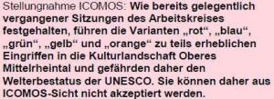 Auszug Stellungnahme ICOMOS